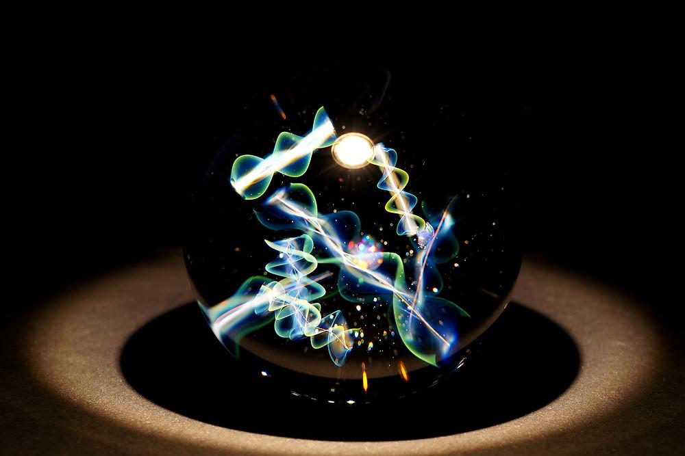 早川和明ガラスアート 情報空間 Infosphere 宇宙 ガラス kazuaki Hayakawa glass art