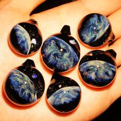 TheEarth 地球ガラスペンダント 早川和明ガラスアート kazuaki hayakawa glass art