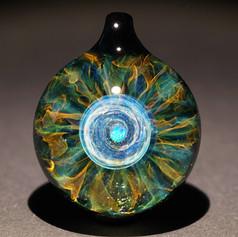 宇宙の眼 ペンダントトップ 早川和明ガラスアート kazuaki hayakawa glass art