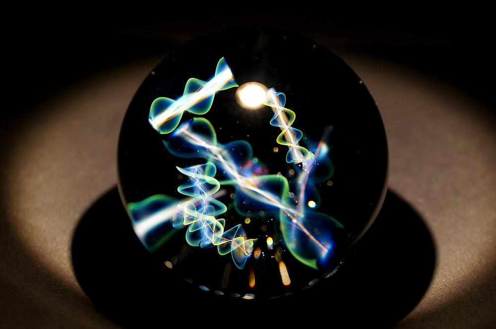 早川和明ガラスアート DNA Infosphere 宇宙 情報 kazuakihayakawa glassart