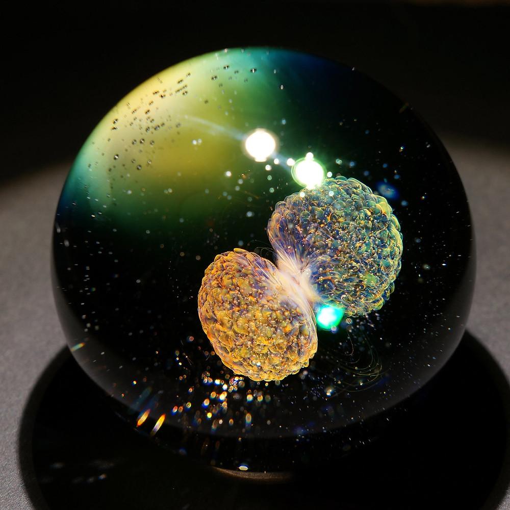 早川和明ガラスアート 宇宙 はじまり ガラスオブジェ