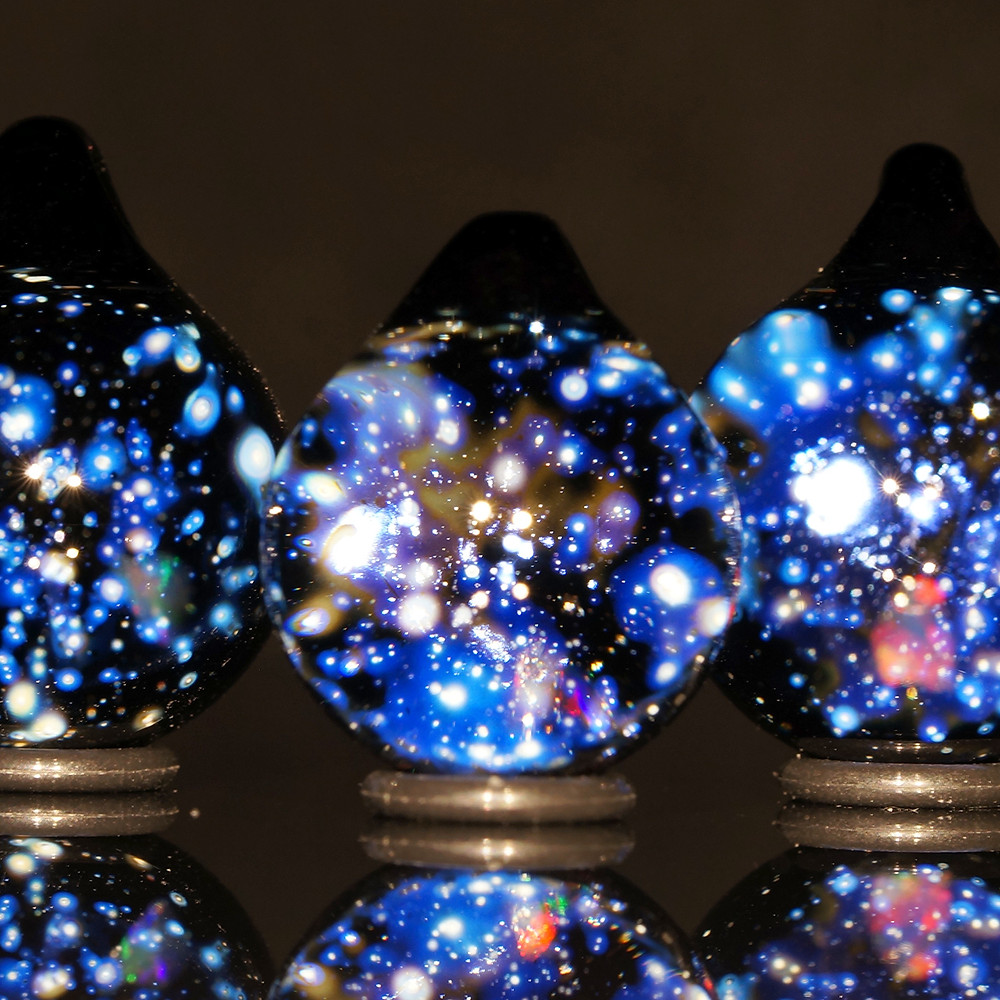 宇宙 ガラス 銀河 早川和明 ガラスアート ガラスペンダント