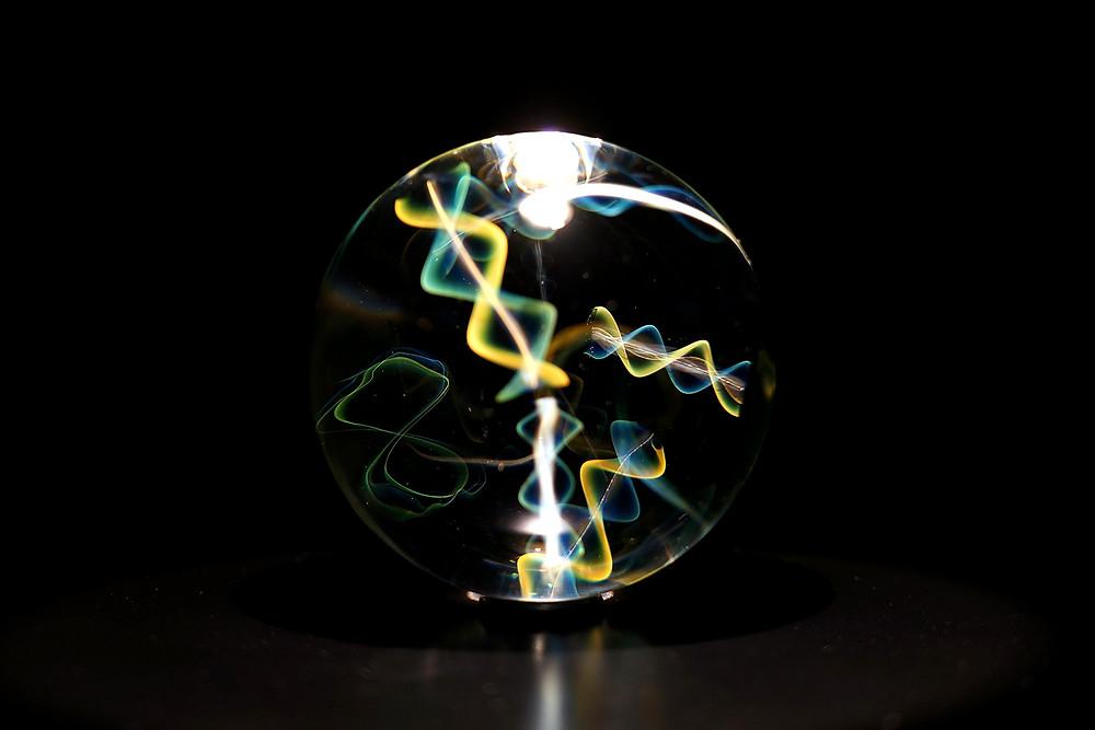 早川和明ガラスアート Infosphere DNA 生命 宇宙 紐