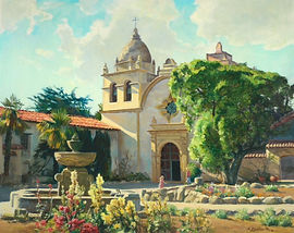 Day at the Carmel Mission 20x25 giclee Anthony LoSchiavo.JPG
