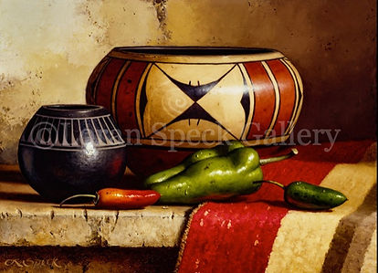 Indian Pottery with Peppers 12x16 Loran Speck watermark.jpg