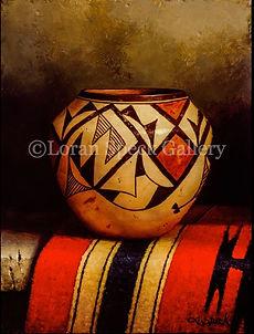 Indian Pottery with Blanket 12x9 Loran Speck watermark.jpg