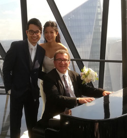 Wedding ceremony at the Gherkin, London