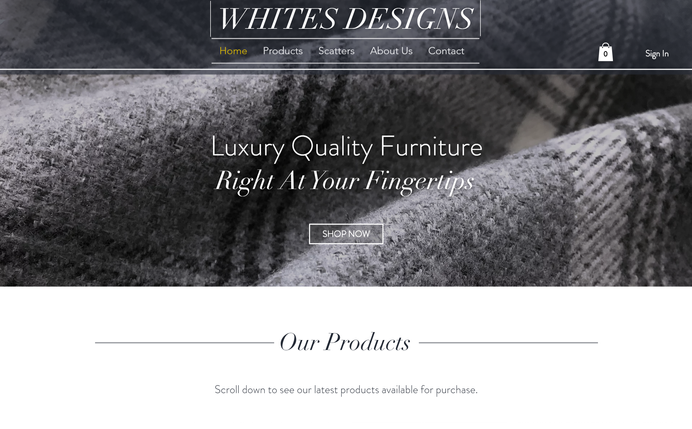 Whites Designs Desktop View