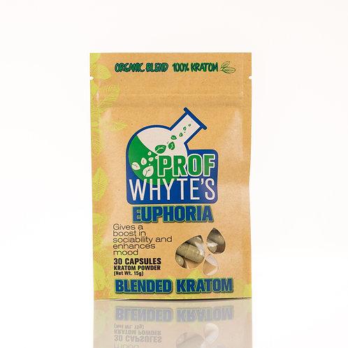 Kratom Organic Blended 30 Capsules Euphoria Mood Happy