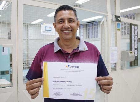 Certificado pelos 15 anos de Correios