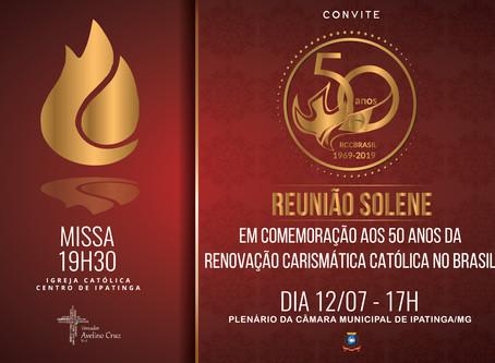 Reunião Solene aos 50 anos da RCC no Brasil