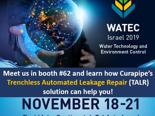 Curapipe System Ltd to exhibit at WATEC 2019 showcasing its TALR solution