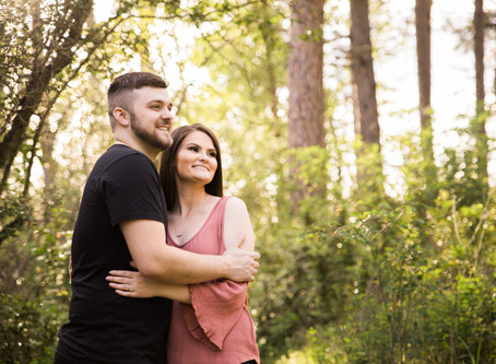 Rayna + Cody | Springtime Liberty Lake Engagement Session