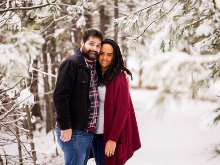 Sharese + Matt | Sweet Cozy Snow Engagement session