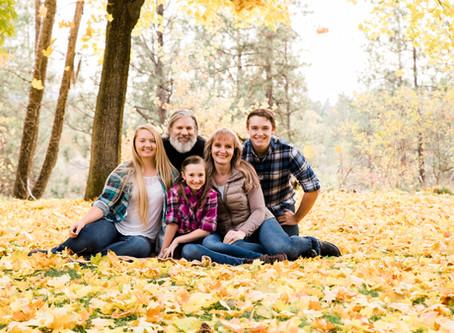 Fall Colors + Plaid | Spokane Valley Family Session