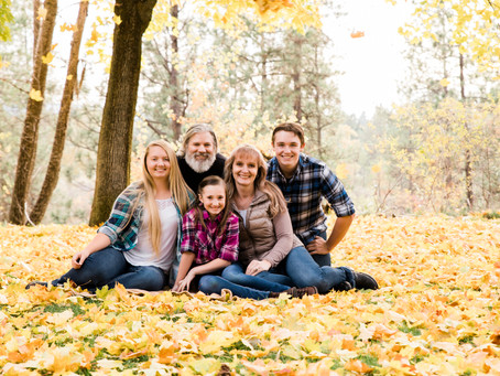 Fall Colors + Plaid | Spokane Valley Family Session