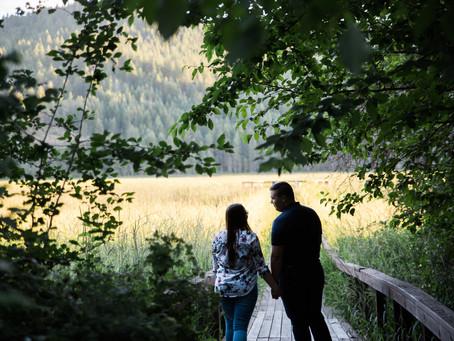 Marya + Steven | Liberty Lake Summertime Engagement Session