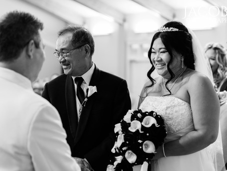 Darrell + Tuie | Classic Black & White Church Wedding