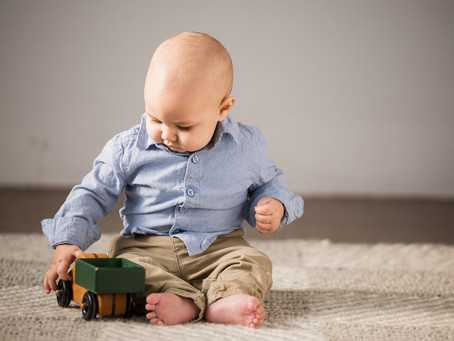 Mr. Personality - Sweet baby boy sitter session in studio!