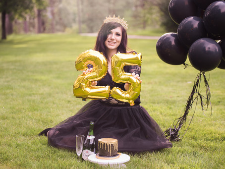Fun 25th Birthday Cake Smash + Puppy Announcement
