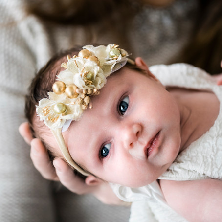 Beautiful Lifestyle Christmas Newborn Session