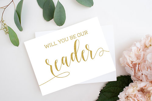 Will You Be Our Reader Card