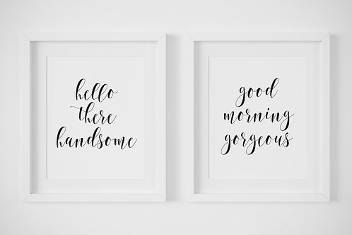 Hello There Handsome / Set of 2
