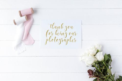 Thank You Photographer Card