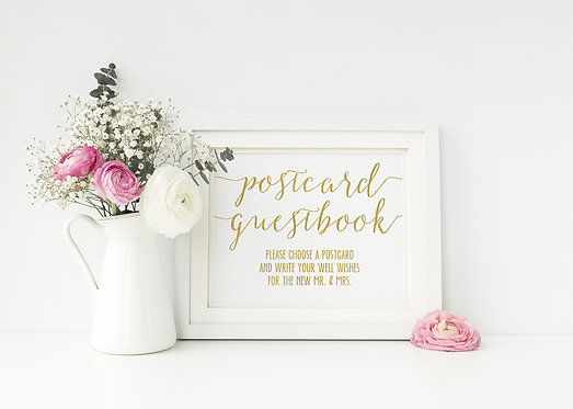 Postcard Guestbook Sign