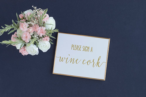 Please Sign a Wine Cork Sign