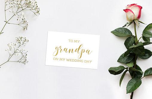 To My Grandpa Card