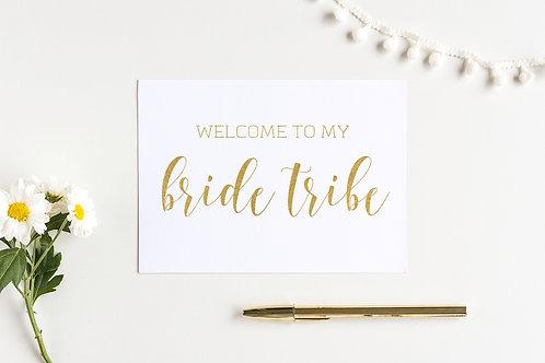 Bride Tribe Card