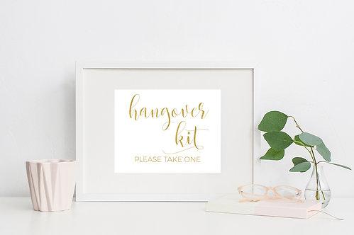 Hangover Kit Sign