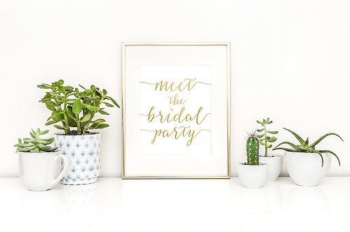 Meet The Bridal Party Sign