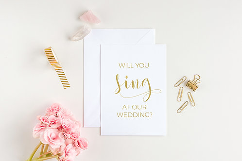 Will You Sing Card