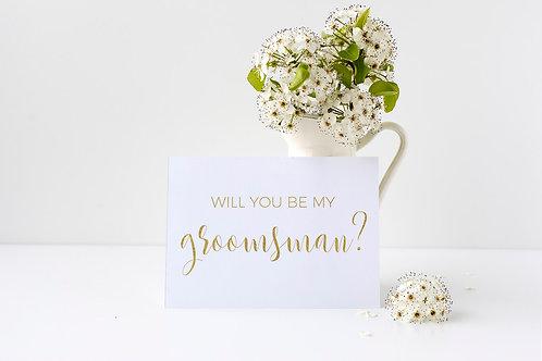 Will You Be My Groomsman Card