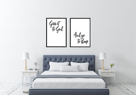 Give it to God / Set of 2