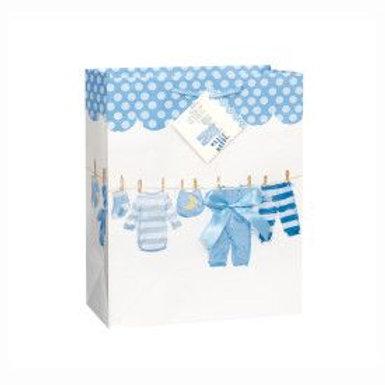 Bag Gift Large Baby Clothesline Blue
