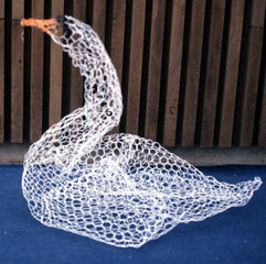 023 - The Ugly Duckling Performance - Painted Chicken-wire Swan