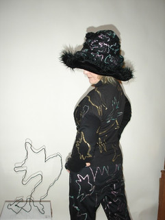Hand Painted jacket & Hat