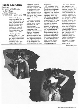 Article on The Shadows from High Performance Magazine