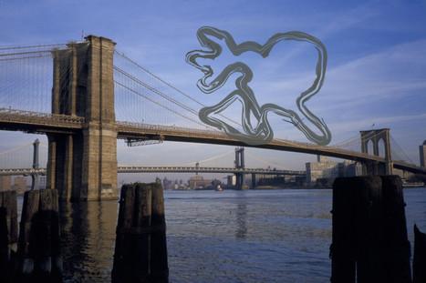 Wolfman on Brooklyn Bridge