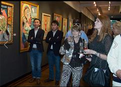 Hanne H7L and Carolyn Beegan at the National Arts Club