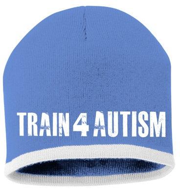 Train 4 Autism Blue Running Beanie