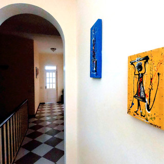 Hallway - decorated with Cape Verdian art