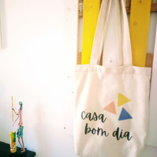Personalised tote bags for our guests to