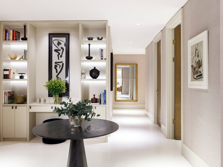 Holland Park Villas - South Kensington : Fitting out / specification of several apartments - including bespoke joinery design.