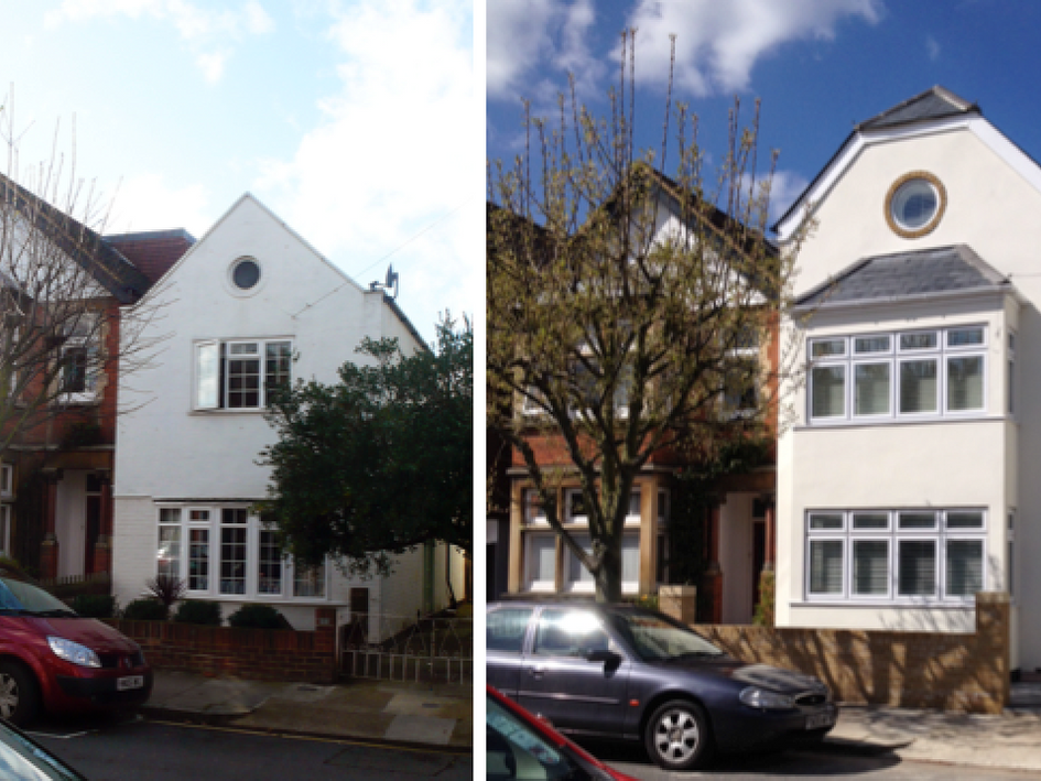 Private House - Kingston : Remodelling of house with additional storey, front bay, side and rear extensions.