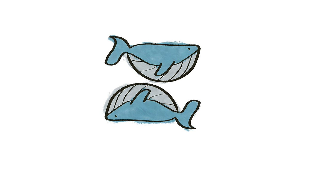 Pisces (two fish, whales here)