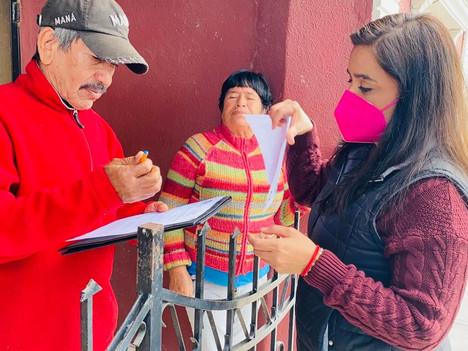 ESTAMOS VISITANDO LOS HOGARES DE LOS ADULTOS MAYORES PARA RENOVAR PROGRAMAS SOCIALES: GABY PEÑA